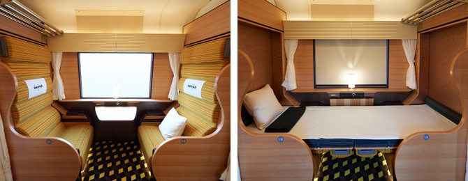 Box seating in Car 1