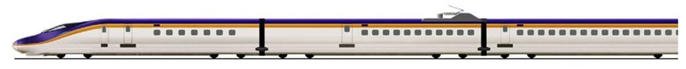 An exterior image of the E8 Series Shinkansen