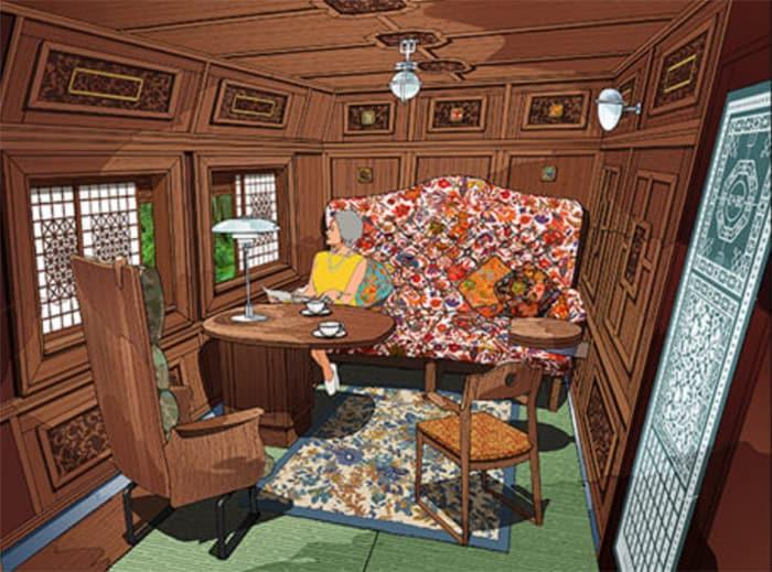 A private compartment in Car 1