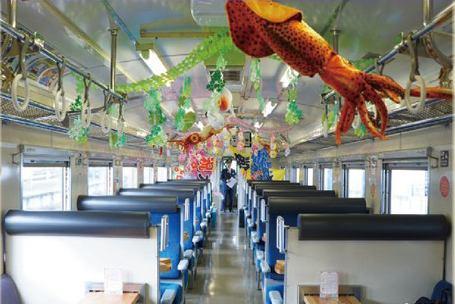 The train interior