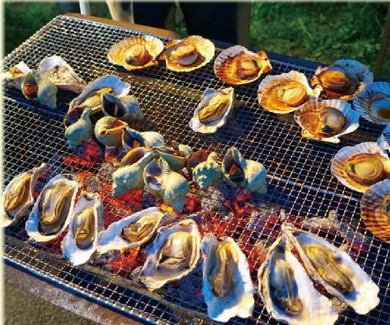 The seafood barbecue at Moheji Station