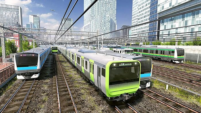 Players can enjoy driving electric trains on central Tokyo's iconic Yamanote Line