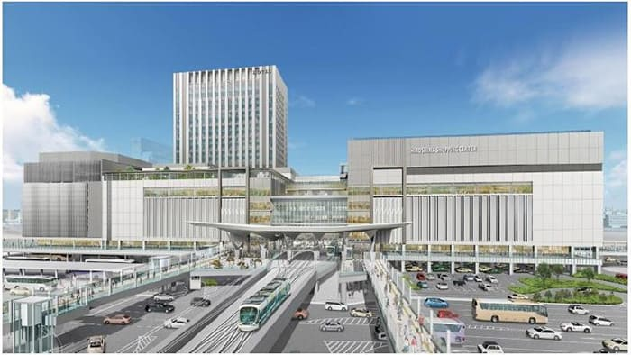 Hiroshima Station's planned redevelopment