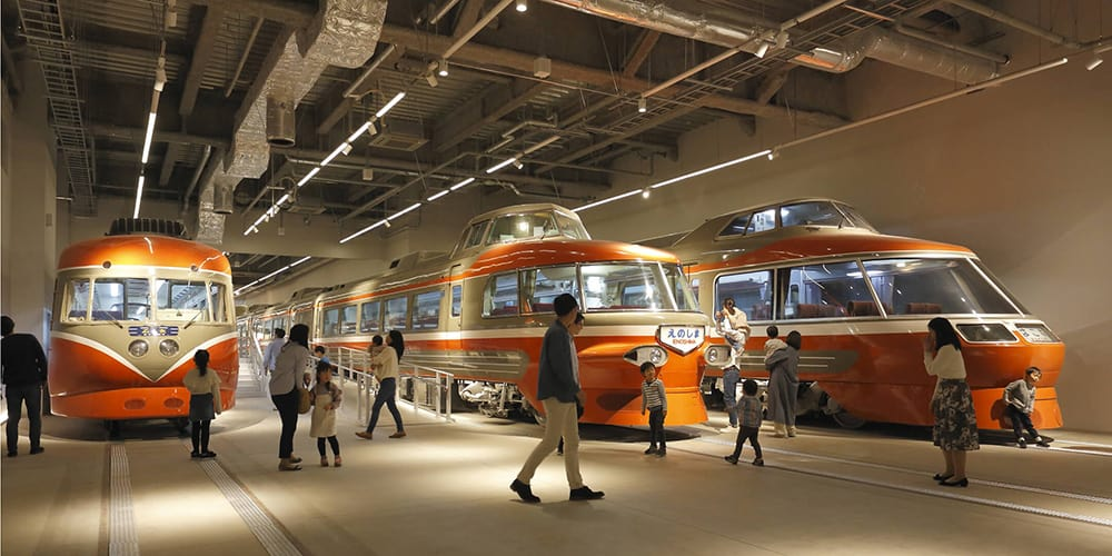 The new museum's Romancecar Gallery