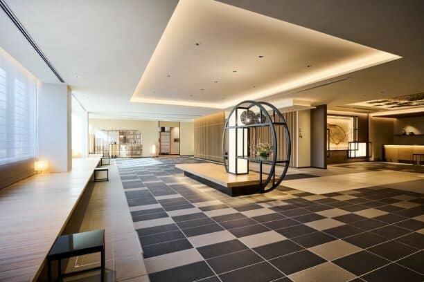 The spacious lobby area