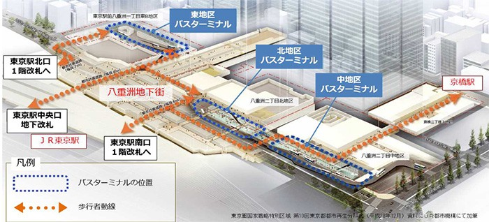 The three sections to be developed are left to right: the Eastern, Northern and Middle Sections