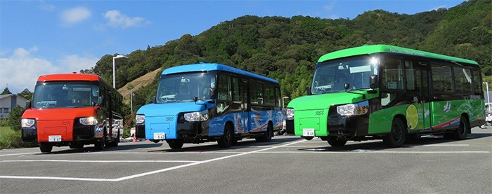 Three new colorful DMVs ready to roll on road or railway